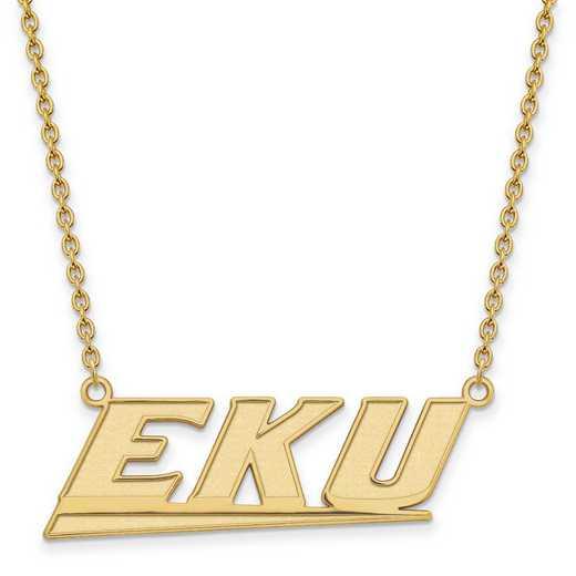 1Y010EKU-18: 10ky LogoArt Eastern Kentucky Univ Large Pendant w/Necklace