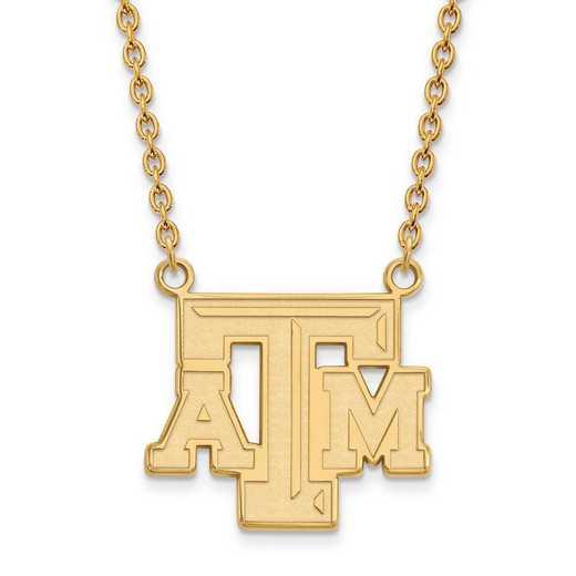 1Y010TAM-18: 10ky LogoArt Texas A&M University Large Pendant w/Necklace