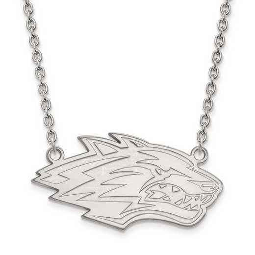 4W009UNM-18: 14kw LogoArt Univ of New Mexico Large Pendant w/Necklace
