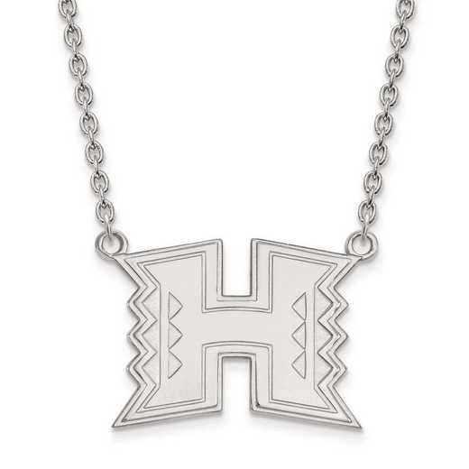 4W010UHI-18: 14kw LogoArt The Univ of Hawai'i Large Pendant w/Necklace