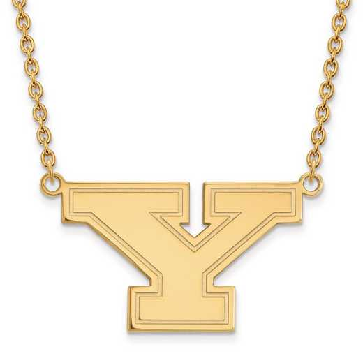 4Y009YSU-18: 14ky LogoArt Youngstown State Univ Large Pendant w/Necklace