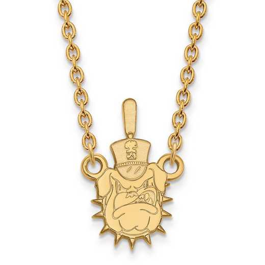 4Y010TCI-18: 14ky LogoArt The Citadel Large Pendant w/Necklace