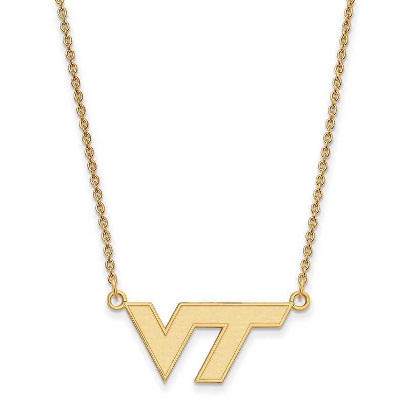 GP009VTE-18: SS YGFP LogoArt Virginia Tech Small Neck - Yellow