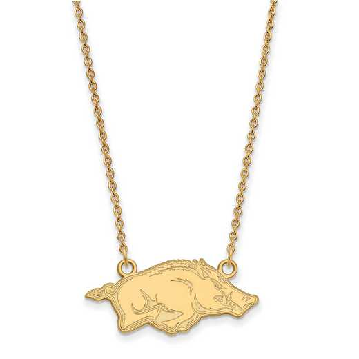 GP014UAR-18: YGFP LogoArt Arkansas Small Neck - Yellow