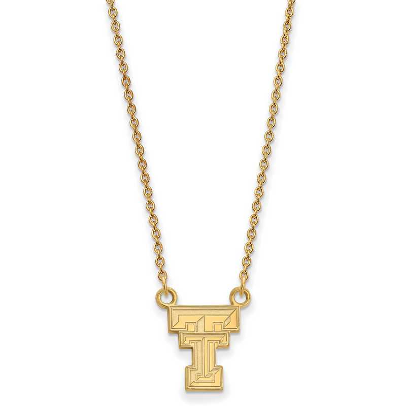 GP015TXT-18: YGFP LogoArt Texas Tech Small Neck - Yellow