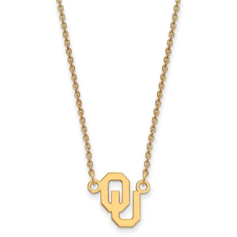 GP015UOK-18: SS YGFP LogoArt Oklahoma Small Neck - Yellow