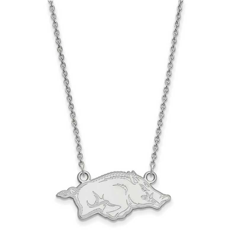 SS014UAR-18: LogoArt Arkansas Small Neck - White