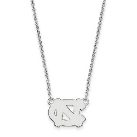 SS014UNC-18: SS LogoArt North Carolina Small Neck - White