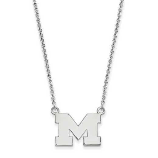 SS015UM-18: SS LogoArt Michigan Small Neck - White