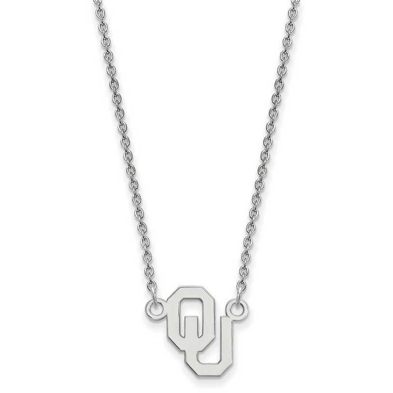 SS015UOK-18: SS LogoArt Oklahoma Small Neck - White