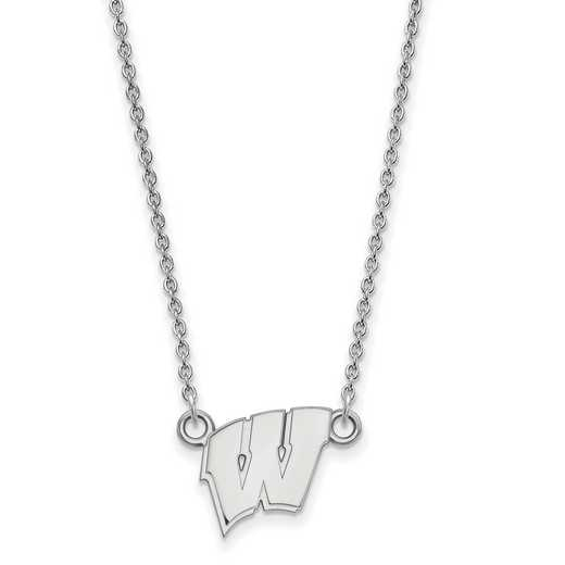 SS015UWI-18: SS LogoArt Wisconsin Small Neck - White