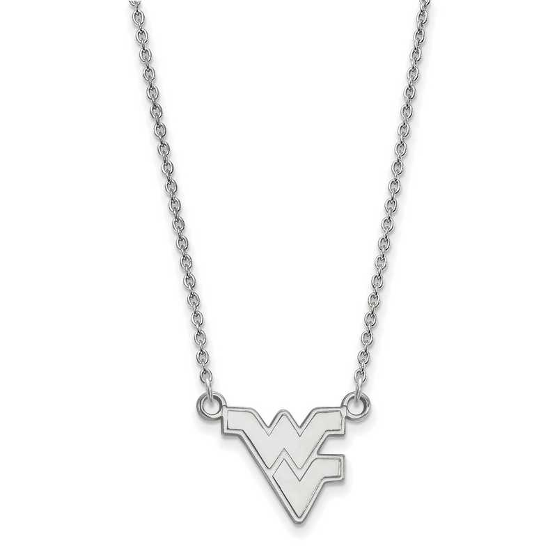SS015WVU-18: SS LogoArt West Virginia Small Neck - White