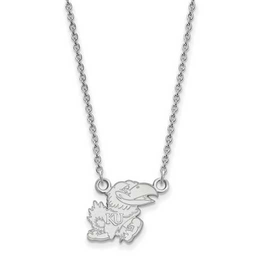 SS057UKS-18: SS LogoArt Kansas Small Neck - White