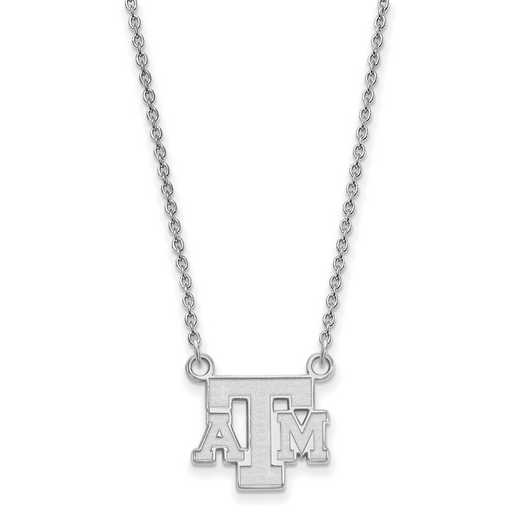 SS060TAM-18: LogoArt Texas A&M Small Neck - White