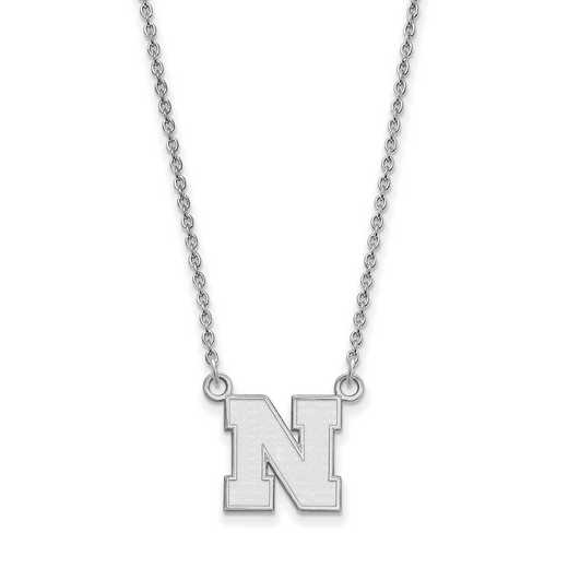 SS073UNE-18: SS LogoArt Nebraska Small Neck - White
