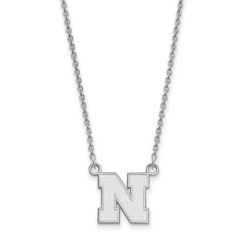 SS073UNE-18: SS LogoArt Nebraska Small Neck - White
