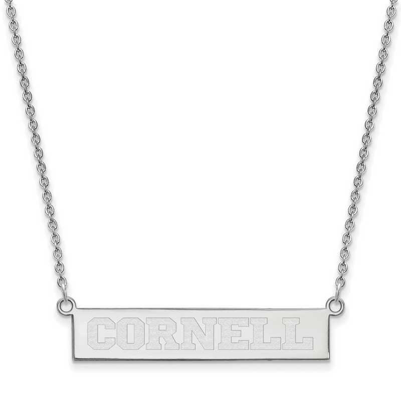SS005COU-18: SS LogoArt Cornell Univ SML Bar Necklace