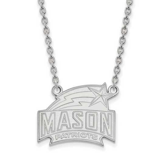 SS006GMU-18: SS LogoArt George Mason Univ LG Pendant w/Necklace