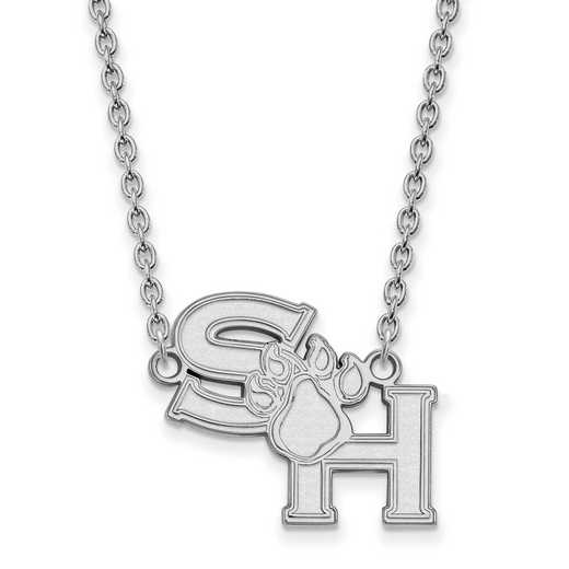 SS006SHS-18: SS LogoArt Sam Houston St U LG Pendant w/Necklace