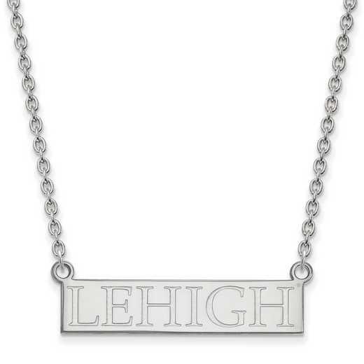 SS007LHU-18: SS LogoArt Lehigh Univ LG Pendant w/Necklace