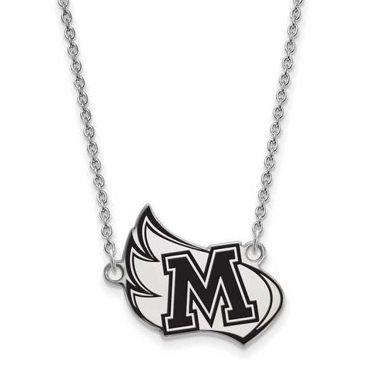 SS007MER-18: SS LogoArt Meredith College LG Enamel Pendant w/Necklace