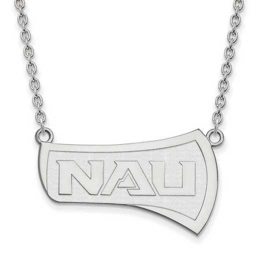 SS007NAU-18: SS LogoArt Northern Arizona Univ LG Pendant w/Necklac