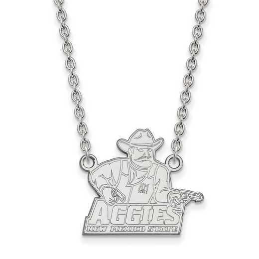 SS007NMS-18: SS LogoArt New Mexico St U LG Pendant w/Necklace