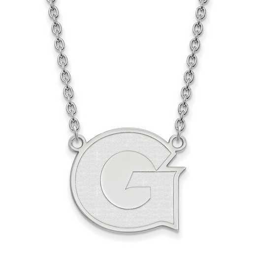 SS008GC-18: SS LogoArt Georgetown Univ LG Pendant w/Necklace