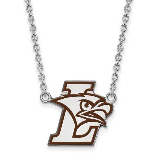 SS008LHU-18: SS Lehigh Univ LG Enamel Pendant w/Necklace