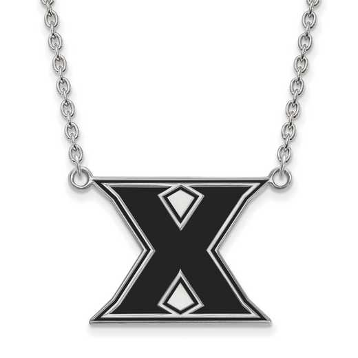 SS008XU-18: SS LogoArt Xavier Univ LG Enameled Pendant w/Necklace