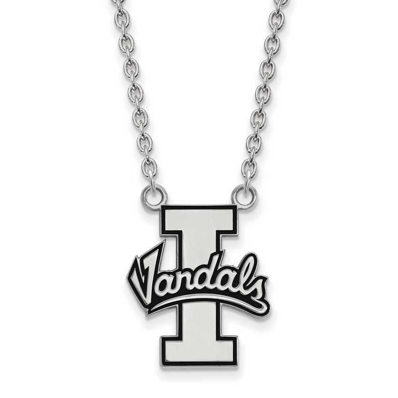 SS009UID-18: SS LogoArt Univ of Idaho LG Enamel Pendant w/Necklace