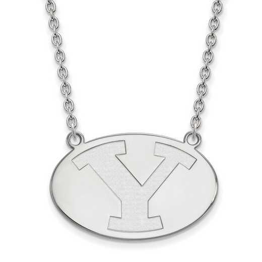 SS010BYU-18: SS LogoArt Brigham Young Univ LG Pendant w/Necklace