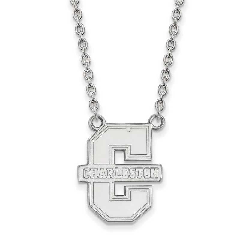 SS010CHC-18: SS LogoArt College of Charleston LG Pendant w/Necklace