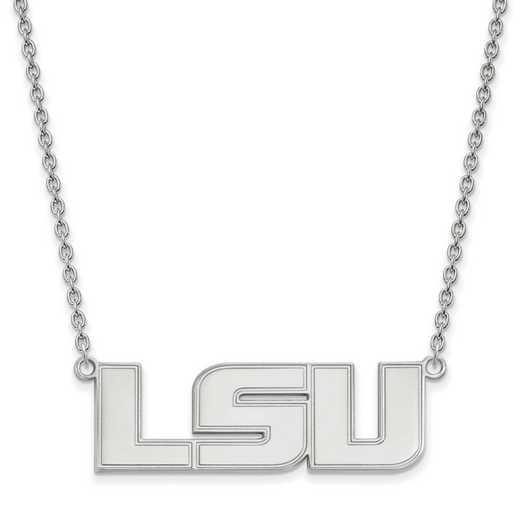 SS010LSU-18: SS LogoArt Louisiana St Univ LG Pendant w/Necklace