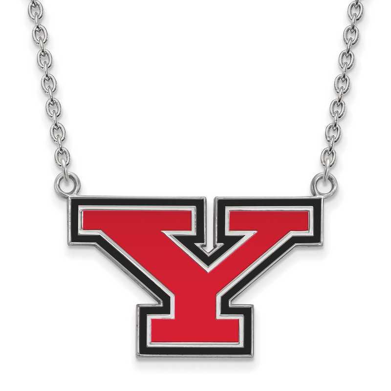 SS011YSU-18: SS LogoArt Youngstown St U Lg Enl Pendant w/Necklace