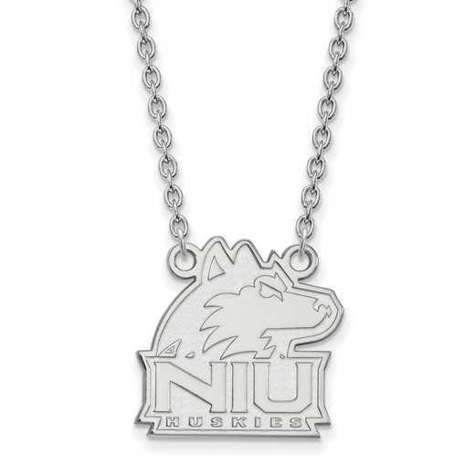 SS012NIU-18: SS LogoArt Northern Illinois Univ Medium Pendant w/Neckl
