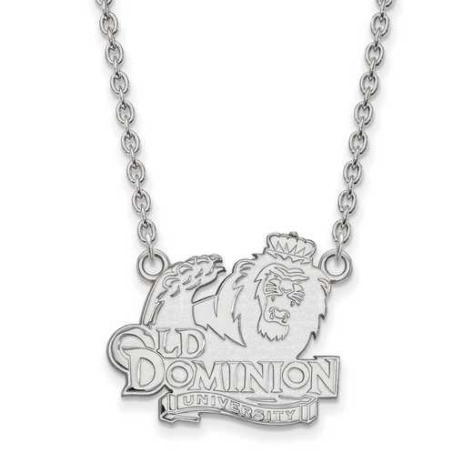 SS012ODU-18: SS LogoArt Old Dominion Univ LG Pendant w/Necklace