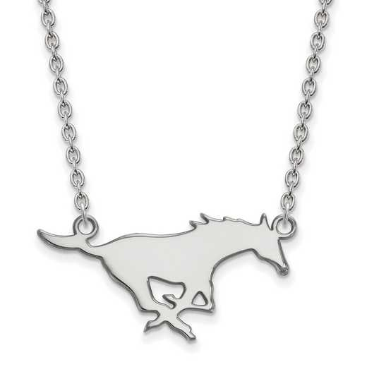 SS012SMU-18: SS LogoArt Southern Methodist U LG Pendant w/Necklace