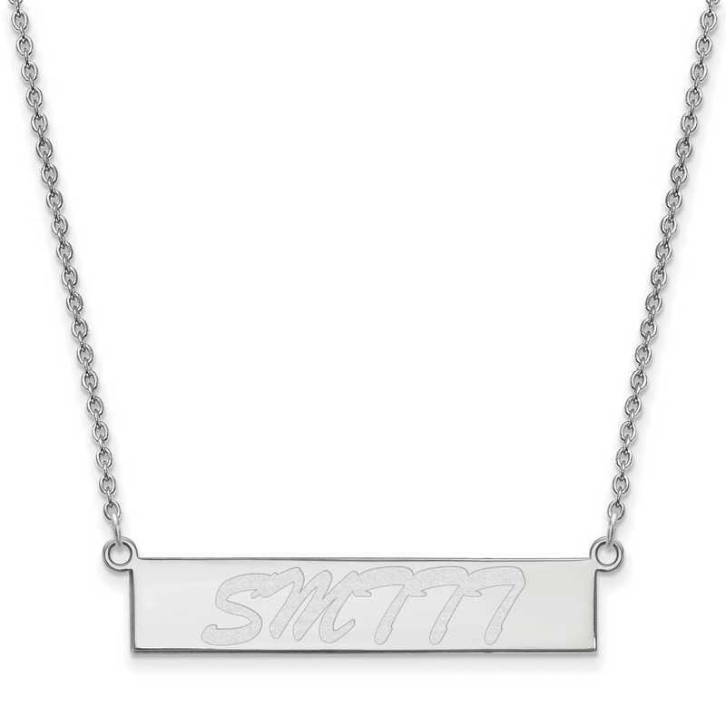 SS012USM-18: SS LogoArt Univ of Southern Mississippi SML Bar Necklace
