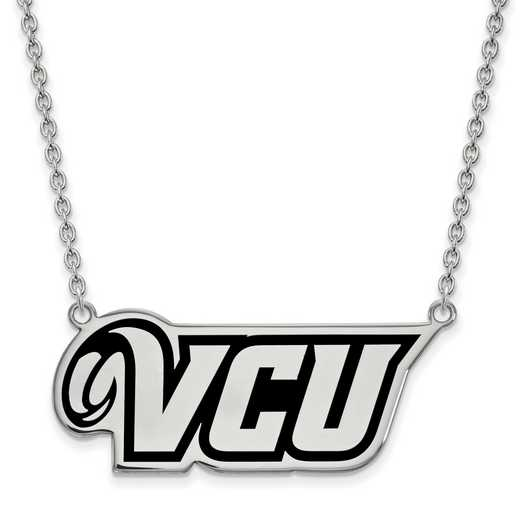 SS012VCU-18: SS LogoArt Virginia Commonwealth U Lg Enl Pend w/Necklace