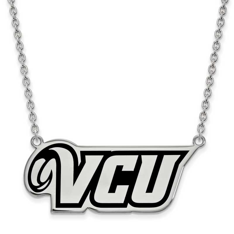 SS012VCU-18: SS LogoArt Virginia Commonwealth U Lg Enl Pend w/Necklace