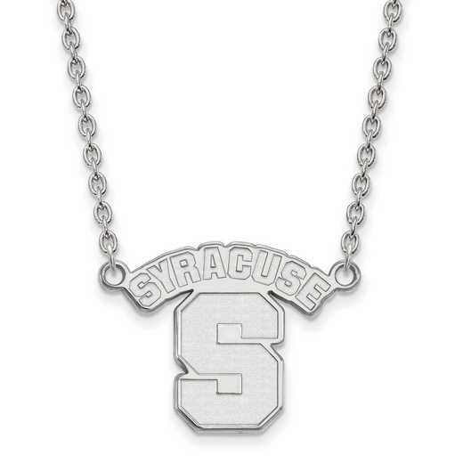 SS014SYU-18: SS LogoArt Syracuse Univ LG Pendant w/Necklace