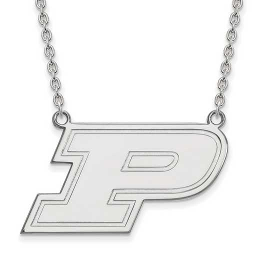 SS015PU-18: SS LogoArt Purdue LG Pendant w/Necklace