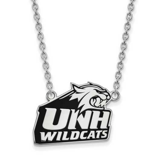 SS015UNH-18: SS LogoArt U of New Hampshire LG Enamel Pendant w/Necklace
