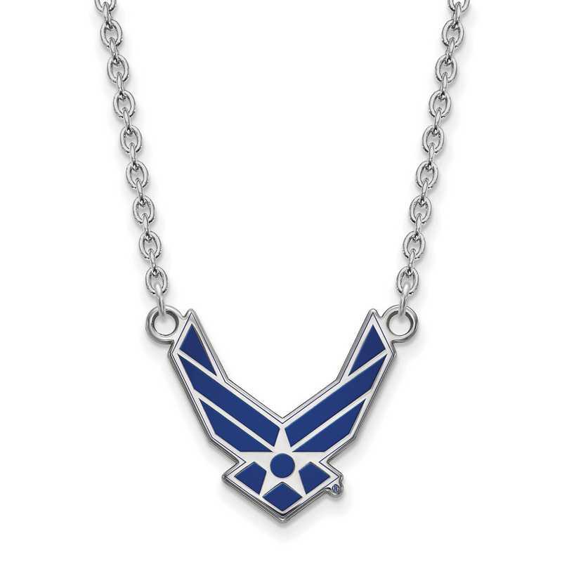 SS015USAF-18: SS LogoArt U.S. Air Force Academy LG Pendant w/ Necklace