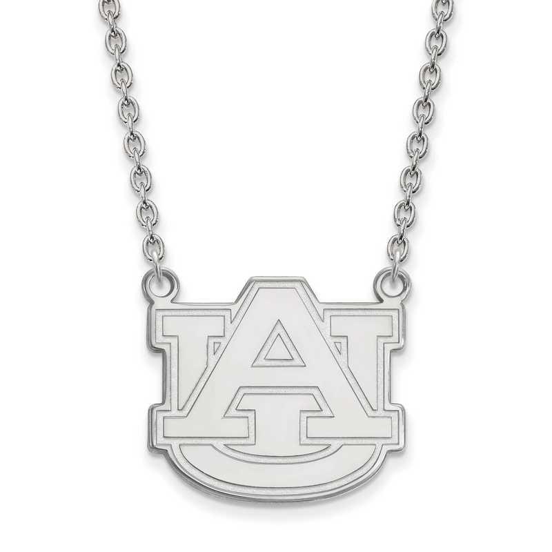 SS016AU-18: SS LogoArt Auburn Univ LG Pendant w/Necklace
