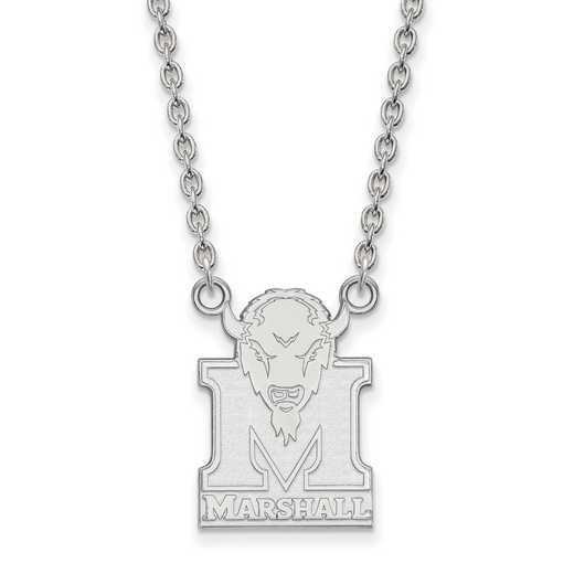 SS016MAU-18: SS LogoArt Marshall Univ LG Pendant w/Necklace