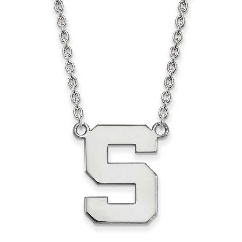 SS016MIS-18: SS LogoArt Michigan St Univ LG Pendant w/Necklace