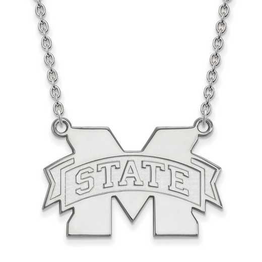 SS016MSS-18: SS LogoArt Mississippi St Univ LG Pendant w/Neckla