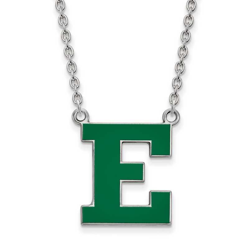 SS026EMU-18: SS LogoArt Eastern Michigan U Enamel LG Pendant w/Necklace